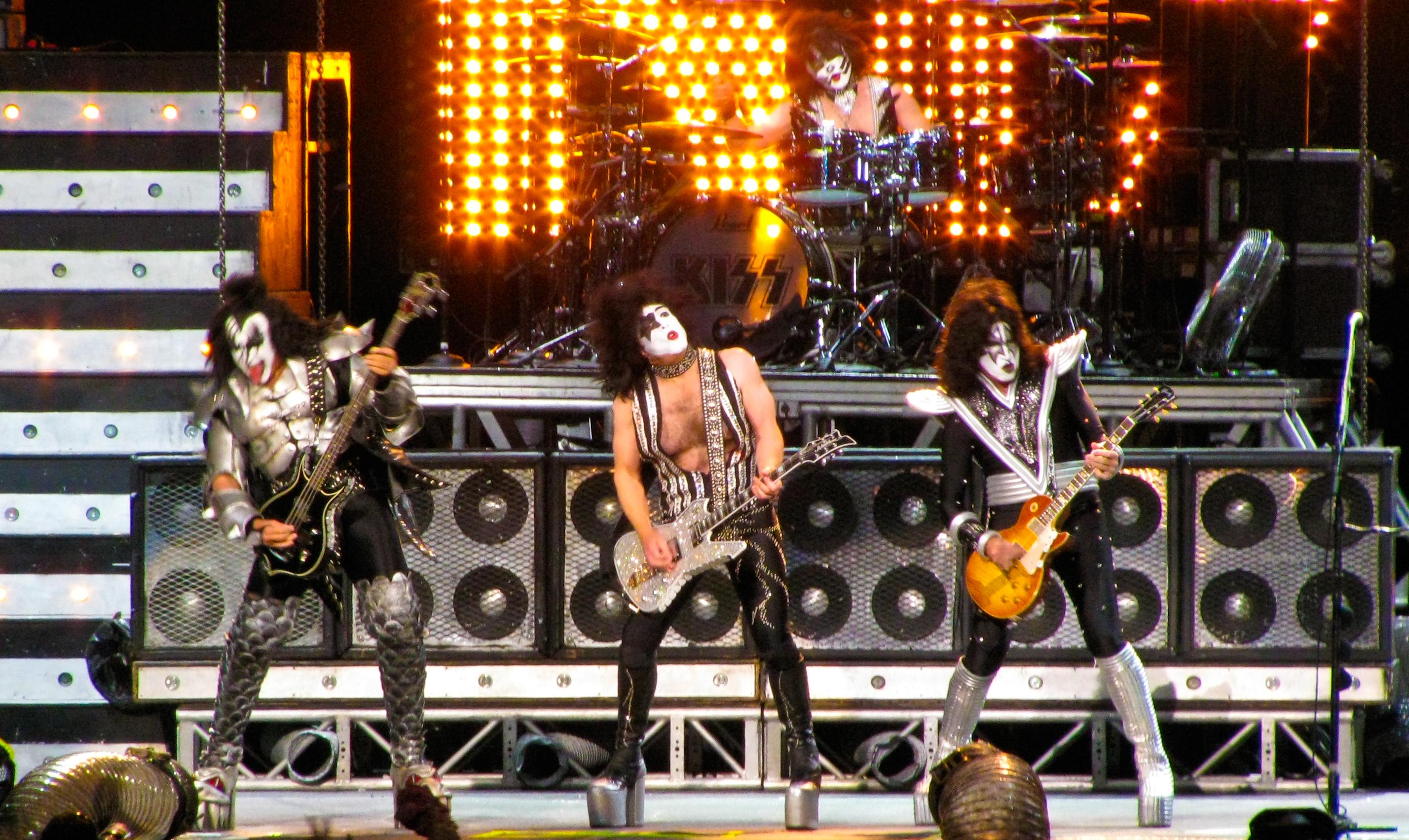 Kiss heavy metal rock bands concert guitar h wallpaper background 2856x1704