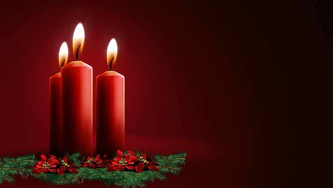 Download Christmas Candle lights HD Wallpapers for iPhone 5 1136x640
