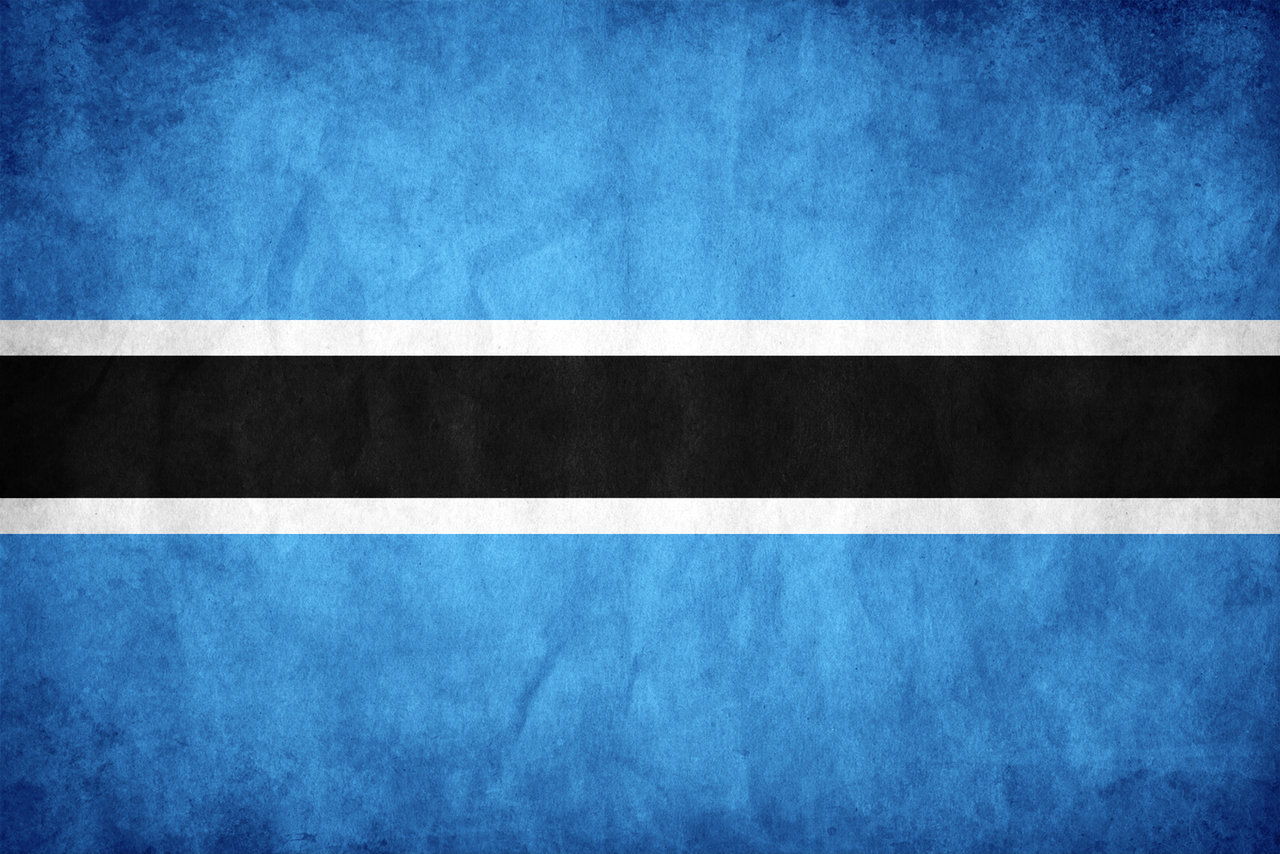 Flag of Botswana the Symbol of Water Source and Farming 1280x854