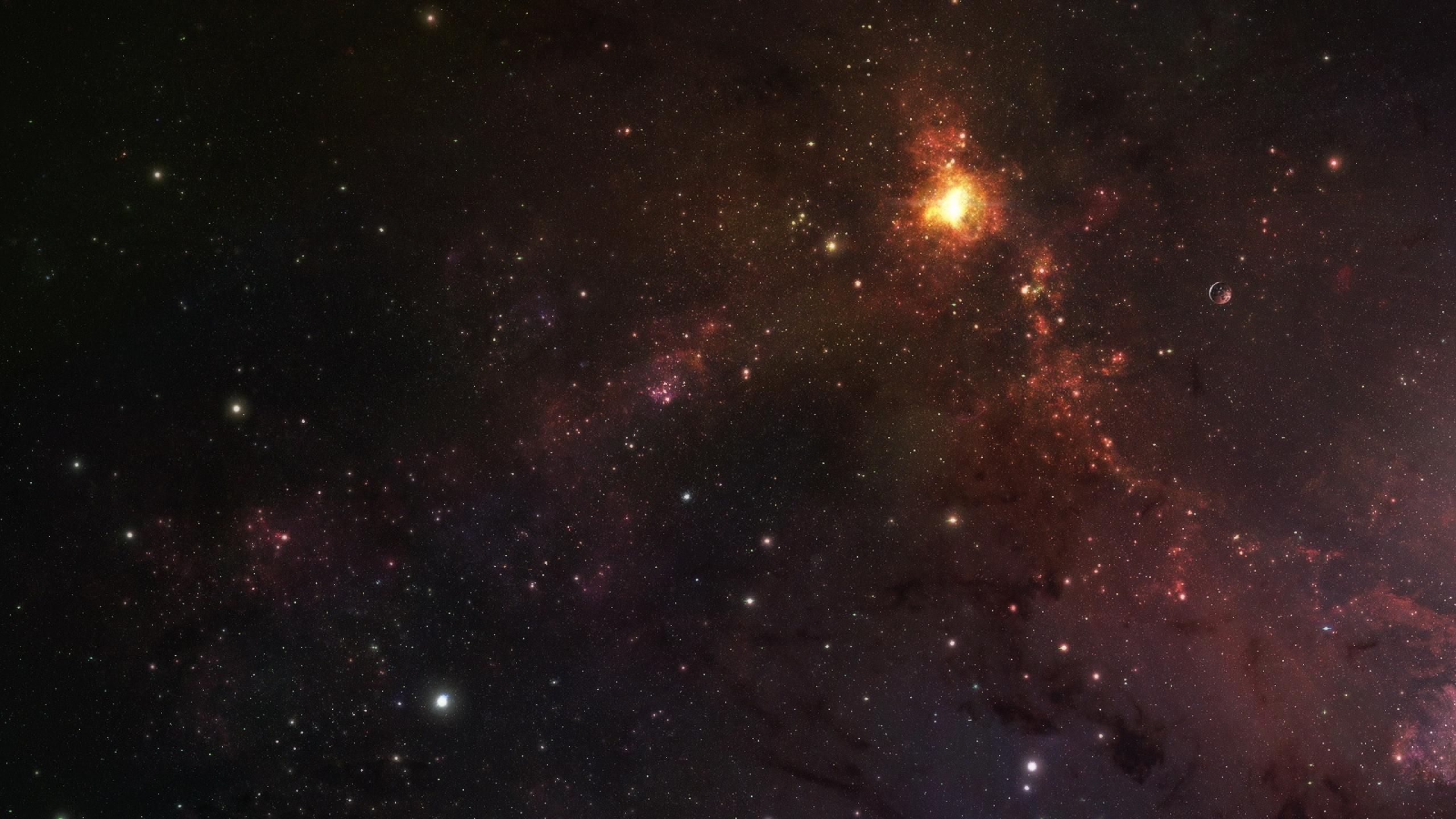 2560x1440 Wallpaper stars galaxy planets 2560x1440