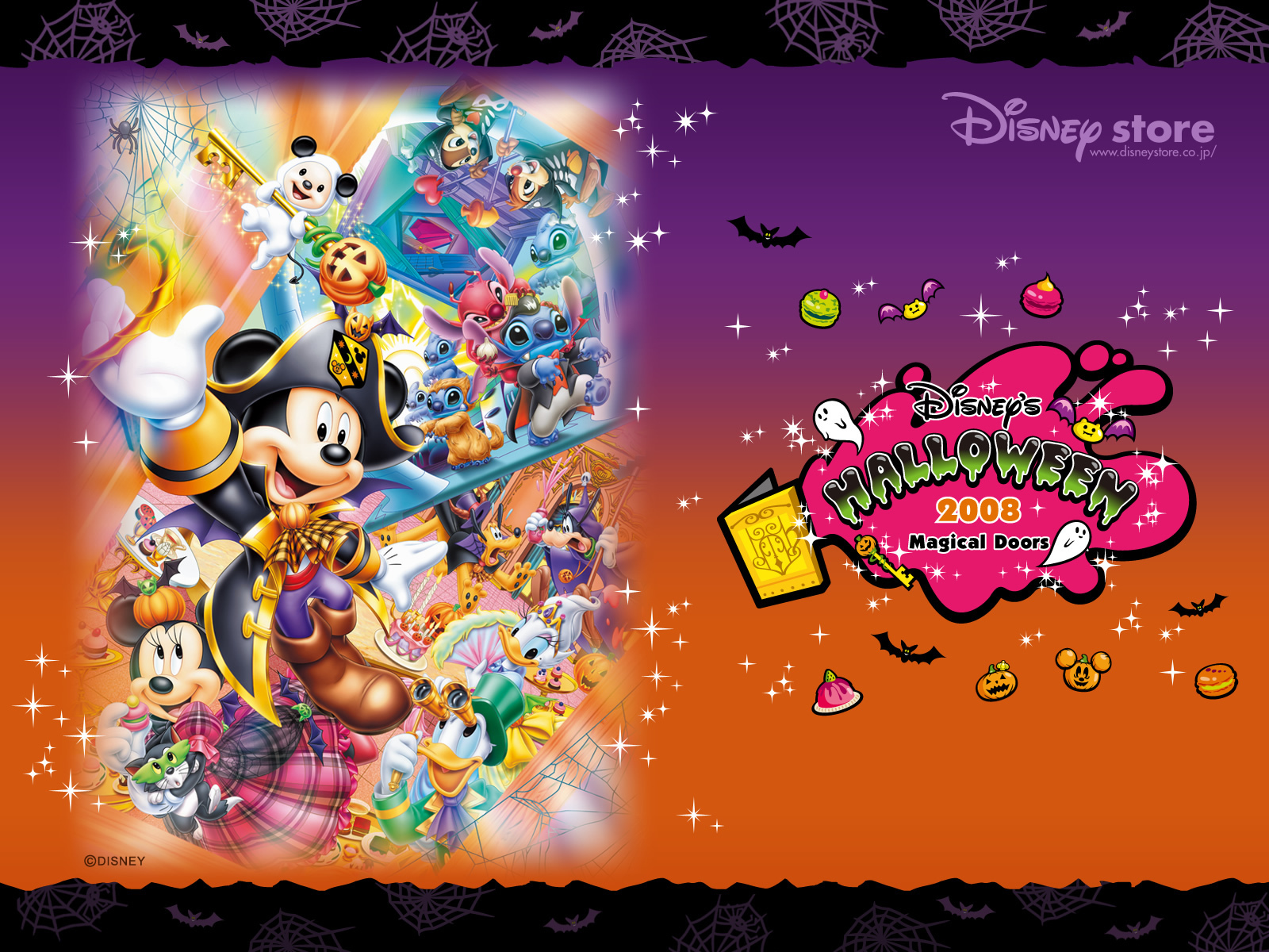 Disney Halloween 2008 Wallpaper - Disney Wallpaper (2428566) - Fanpop