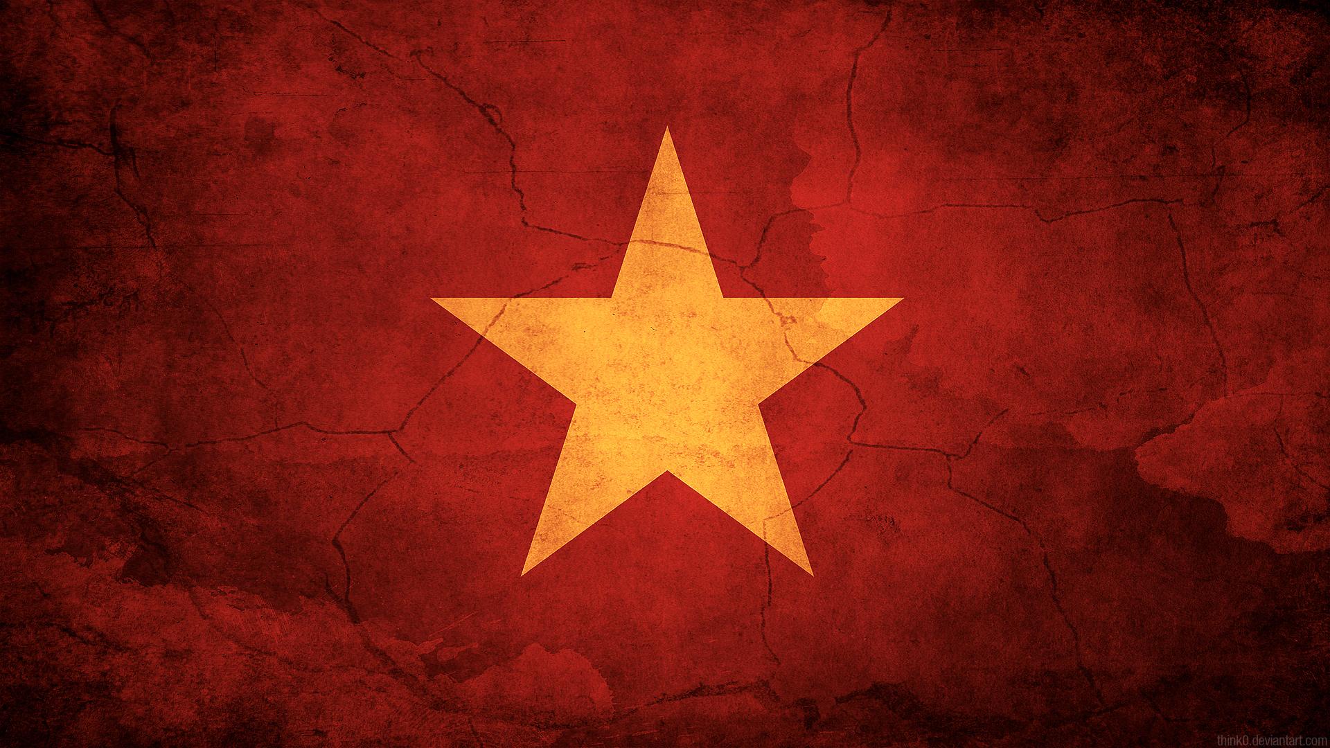 Vietnam Flag by think0 1920x1080