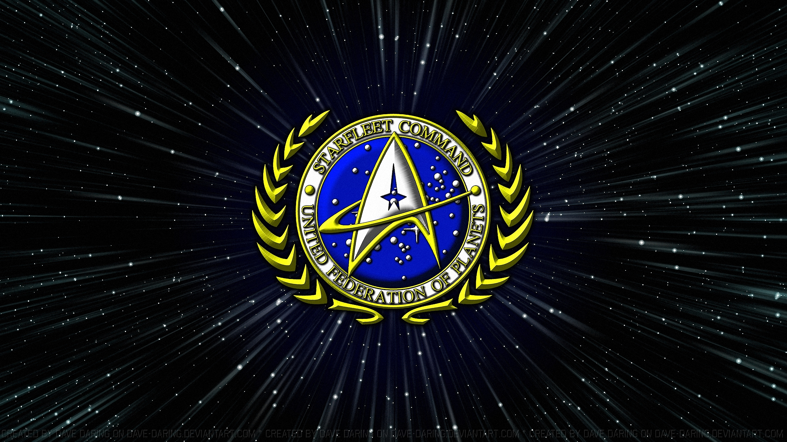 Starfleet Command Great Seal by Dave Daring 2560x1440