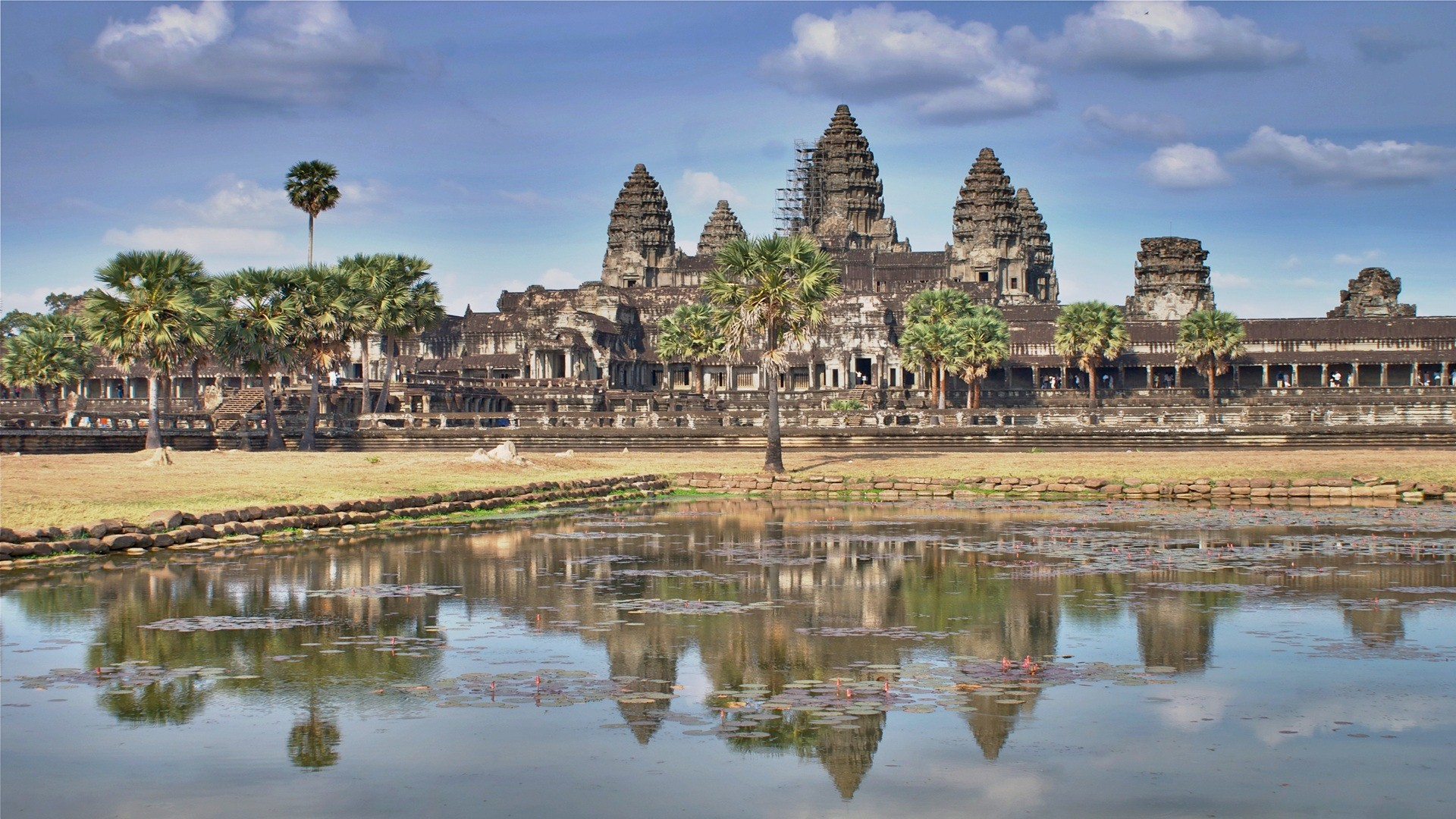 Download Angkor Wat Temple in Siem Reap Cambodia Asia HD Famous 1920x1080
