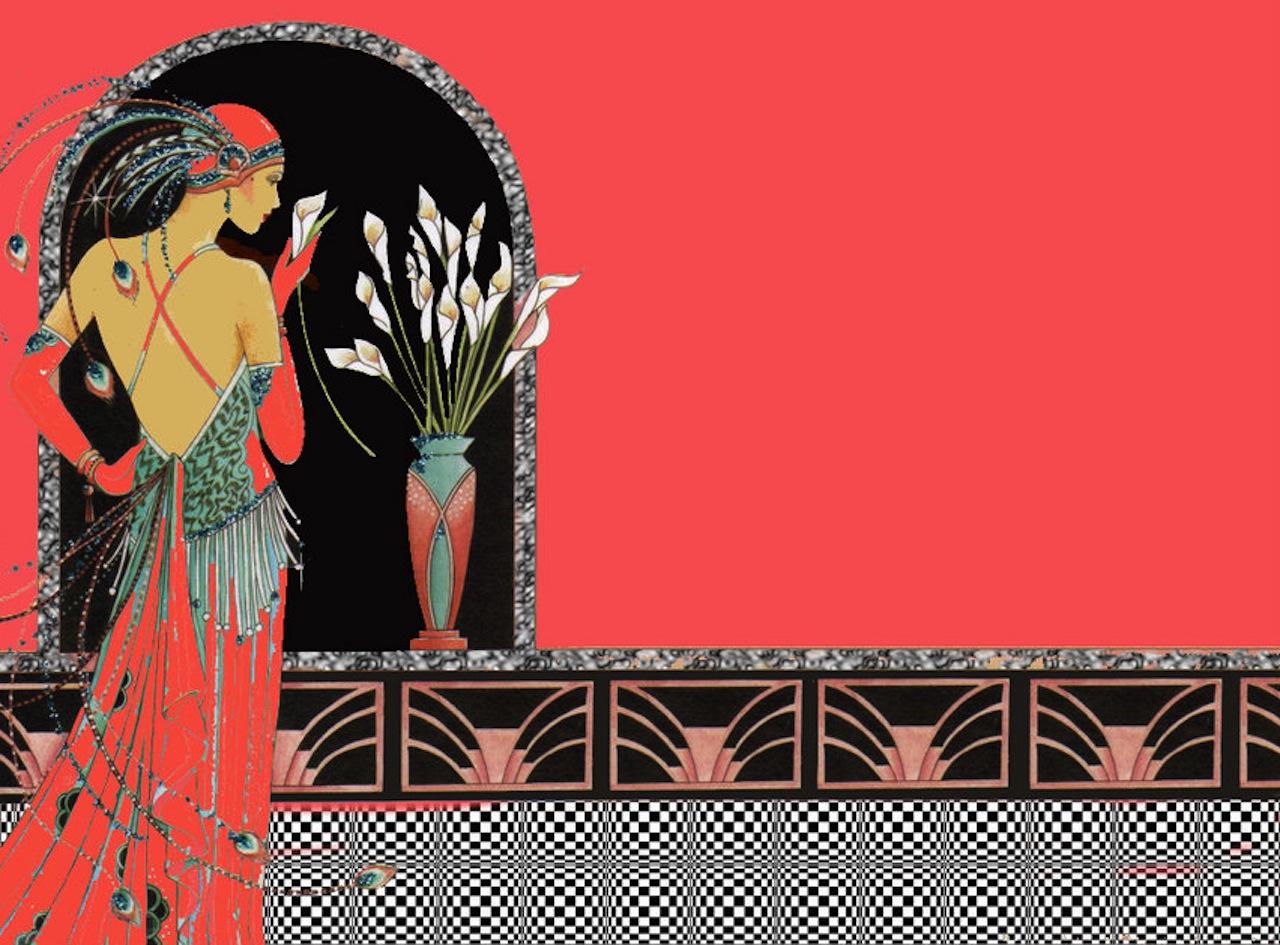 wallpaper retro art deco wallpapersafari. Black Bedroom Furniture Sets. Home Design Ideas