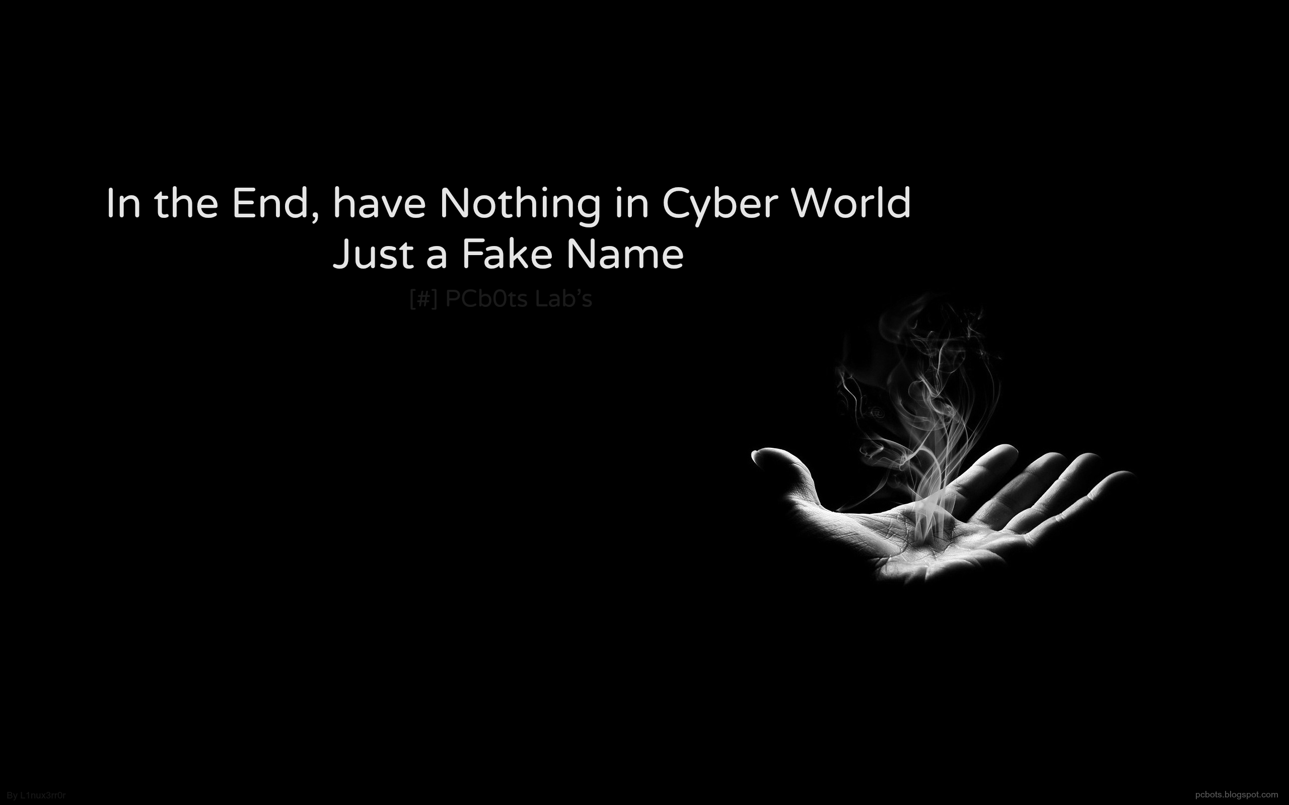 Have nothing in the cyber world only a fake name Hacker Series 2560x1600