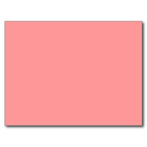 Plain Coral Pink Background Postcard Zazzle 512x512