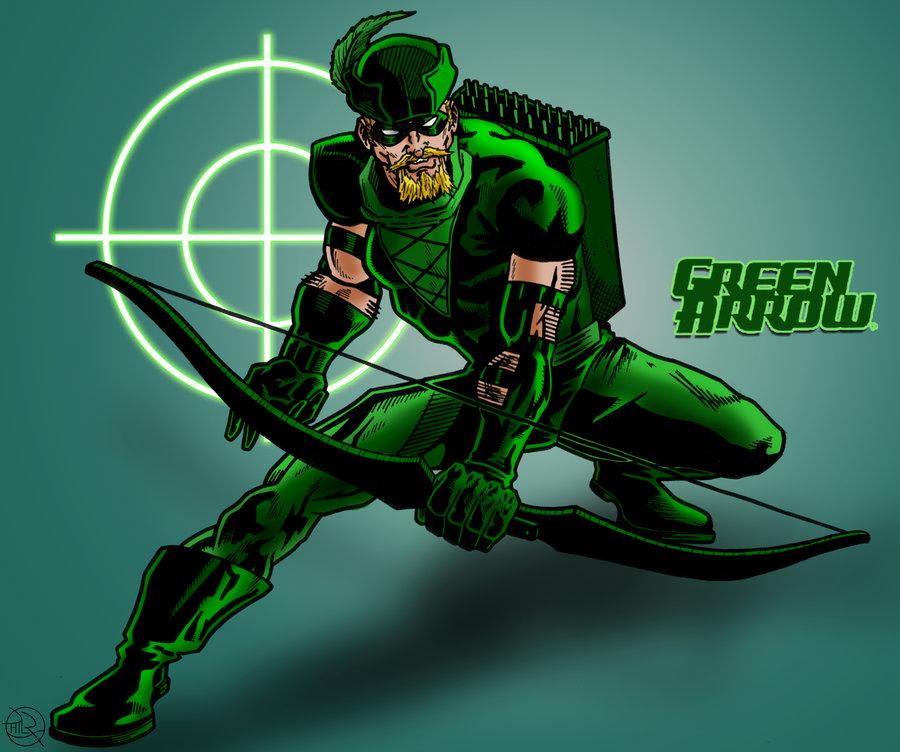 JLA Green Arrow Coloured by kameleon84 900x752
