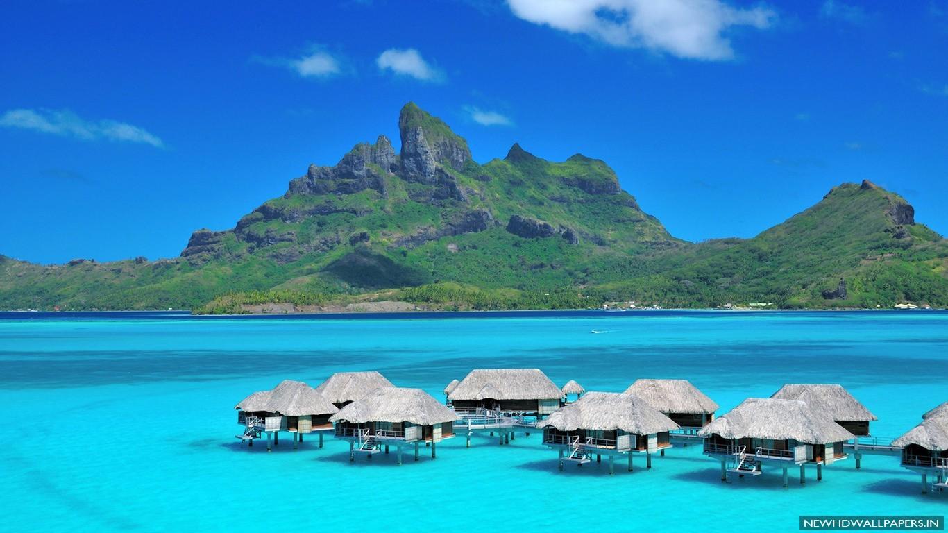 Regis Bora Bora Resort Wide Desktop Wallpapers   New HD Wallpapers 1366x768