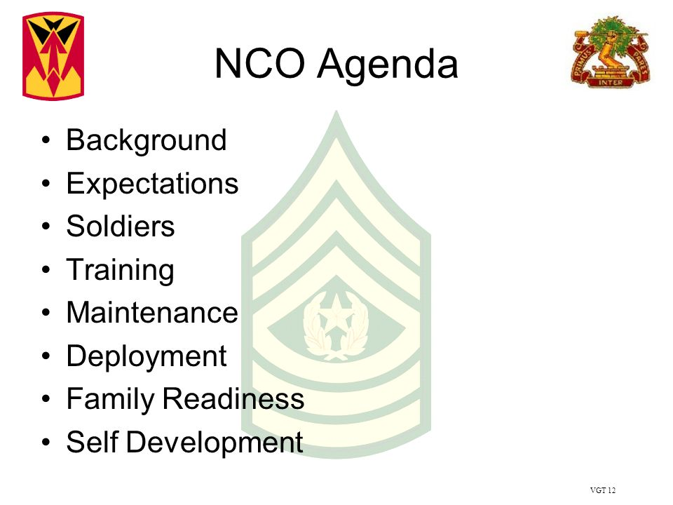 VGT 2 Junior Enlisted Agenda Background Expectations Discipline 960x720
