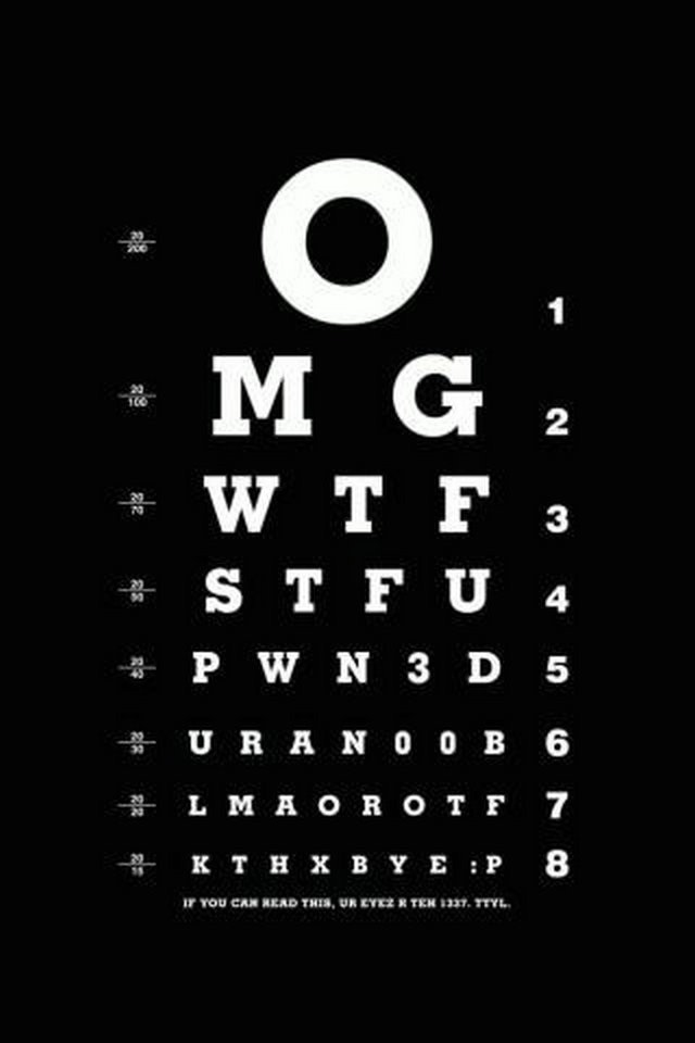 Cool Eyesight Test Iphone 4s Wallpapers 640x960 Hd 4