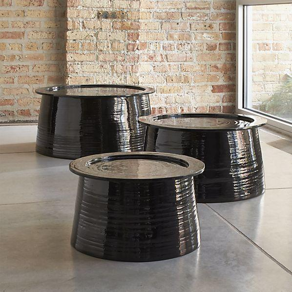 Set of 3 Brush Bamboo Tables I Crate and Barrel 598x598