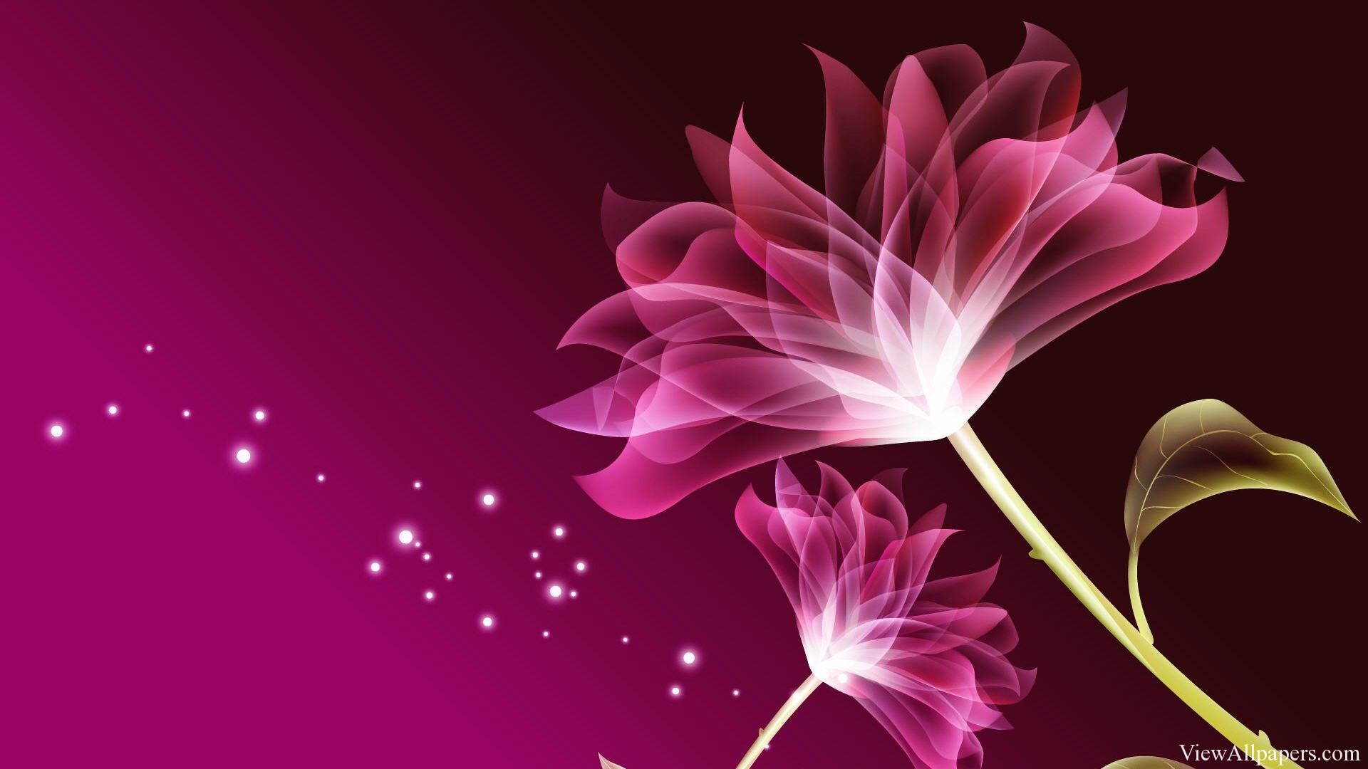3D Pink Beautiful Flower Wallpaper by viewallpaperscom 1920x1080