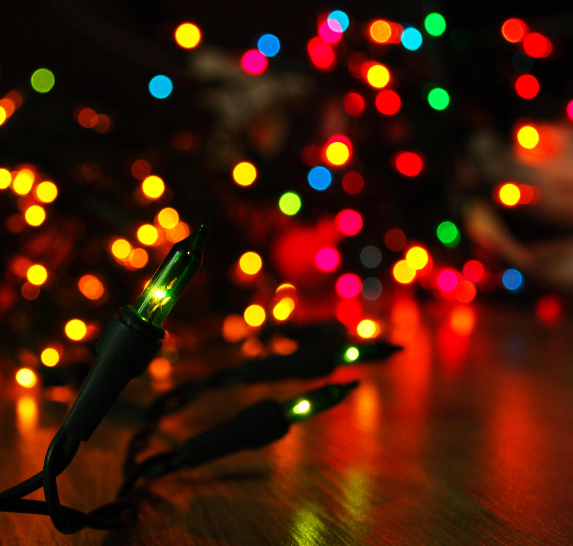 Google xmas themes - Christmas Lights Rainbow Google Wallpapers Christmas Lights Rainbow