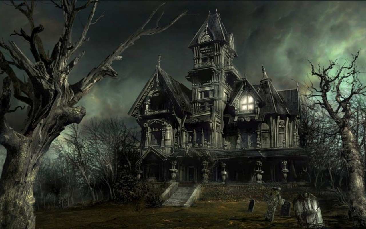 Haunted House   Halloween Wallpaper 16050692 1280x800