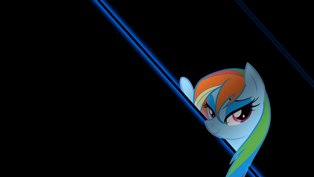 Rainbow dash neon wallpaper wallpapersafari - Princess luna screensaver ...