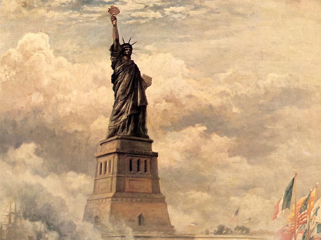 Free Download Edward Moran Statue Of Liberty Enlightening