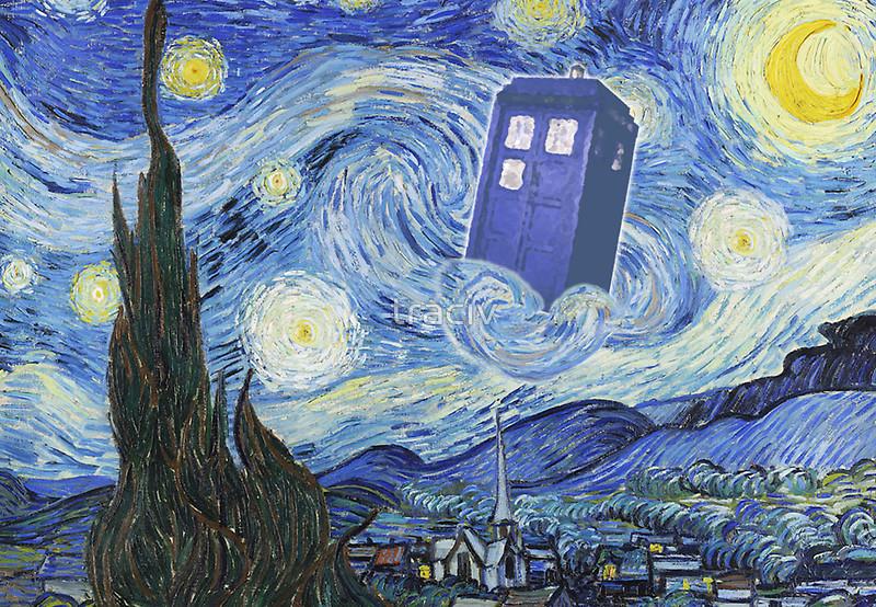 doctor who van gogh wallpaper wallpapersafari