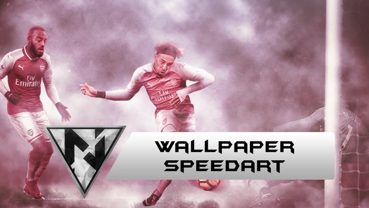 Aubameyang Arsenal [SpeedArt] Kitswap Wallpaper   Photoshop CC 1280x720