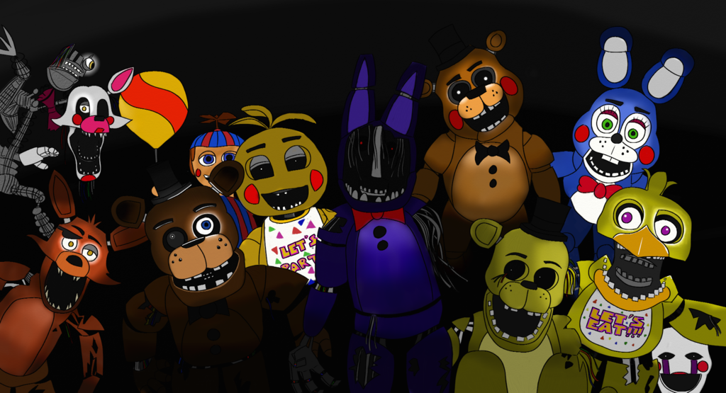 Images of Five Nights At Freddy's Characters - #rock-cafe