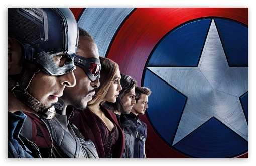 Captain America Civil War Team HD wallpaper for Standard 43 54 510x330