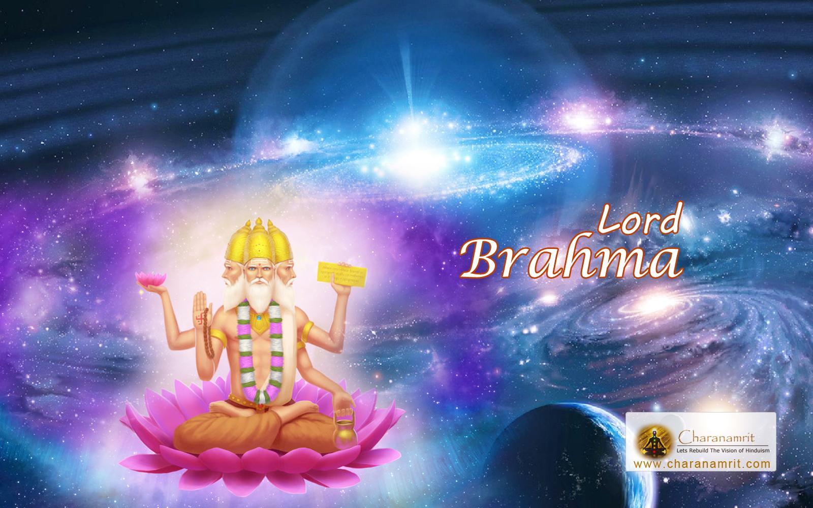 God Shi Brahma dev beautiful 3D HD Wallpaper for download width 1600x1000