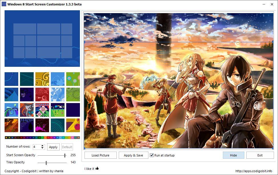 Windows 8 Start Screen Customizer Freeware to customize Start Screen 974x613