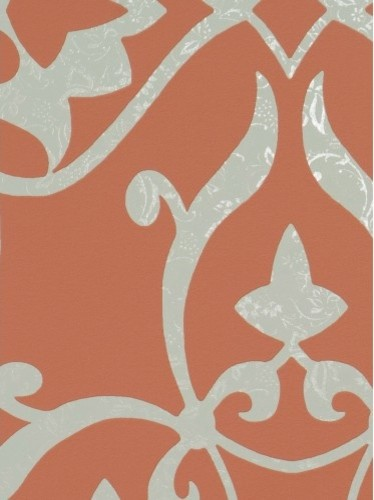 Orange Elegant Wallpaper   Double Roll   Contemporary   Wallpaper   by 374x500