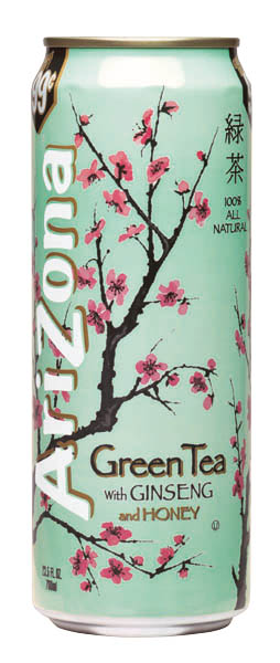 background to the Arizona Green Tea bottle Which is the look were 254x600