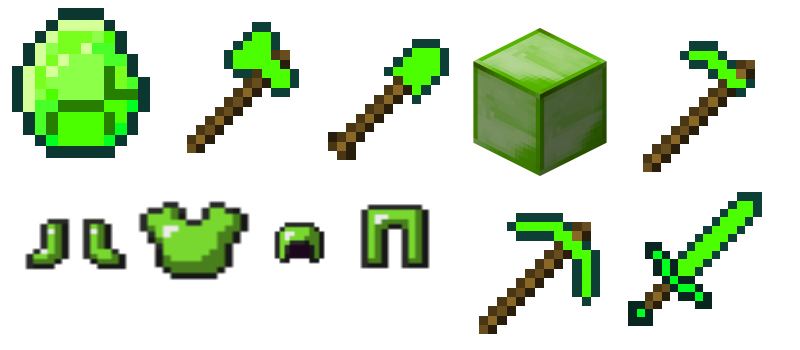 Minecraft Ideas Emerald Stuff by lightingft 800x350