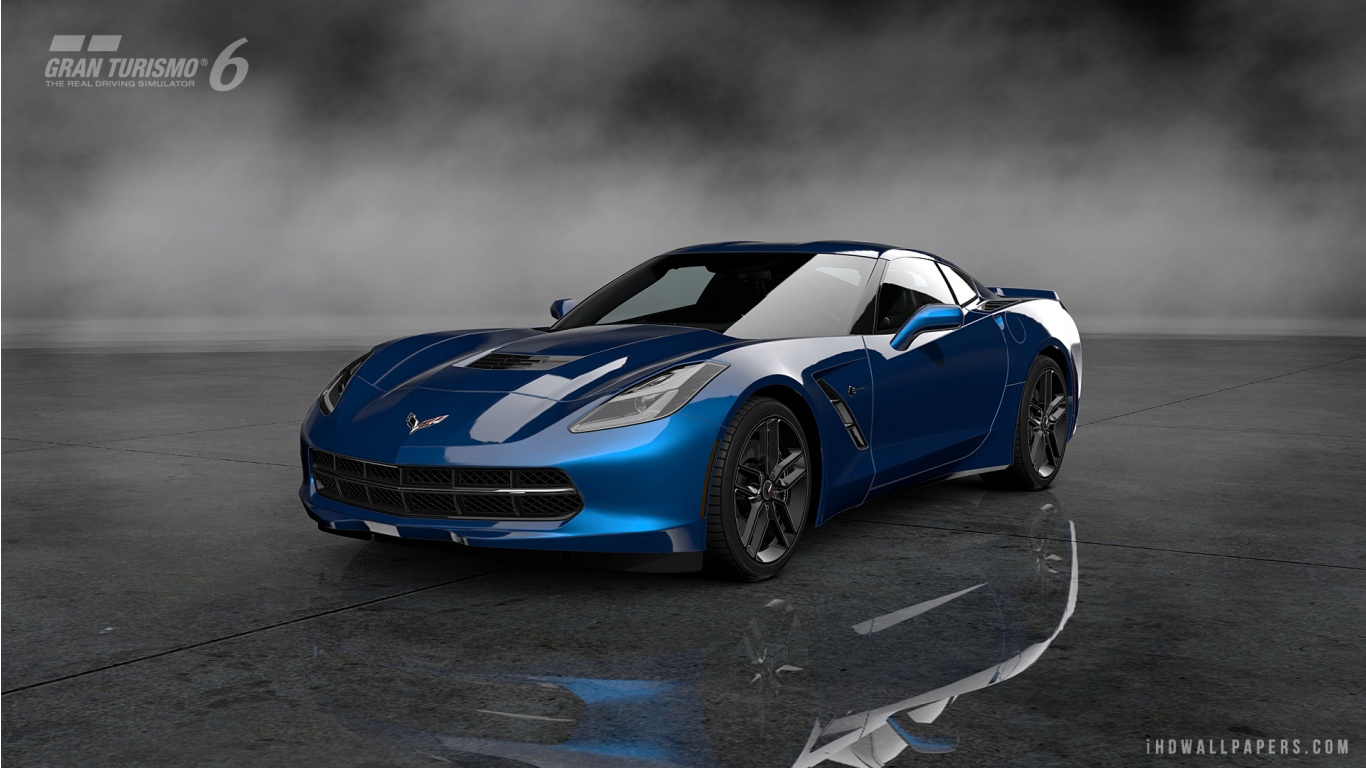 Corvette Stingray C7 Gran Turismo 6 HD Wallpaper   iHD Wallpapers 1366x768