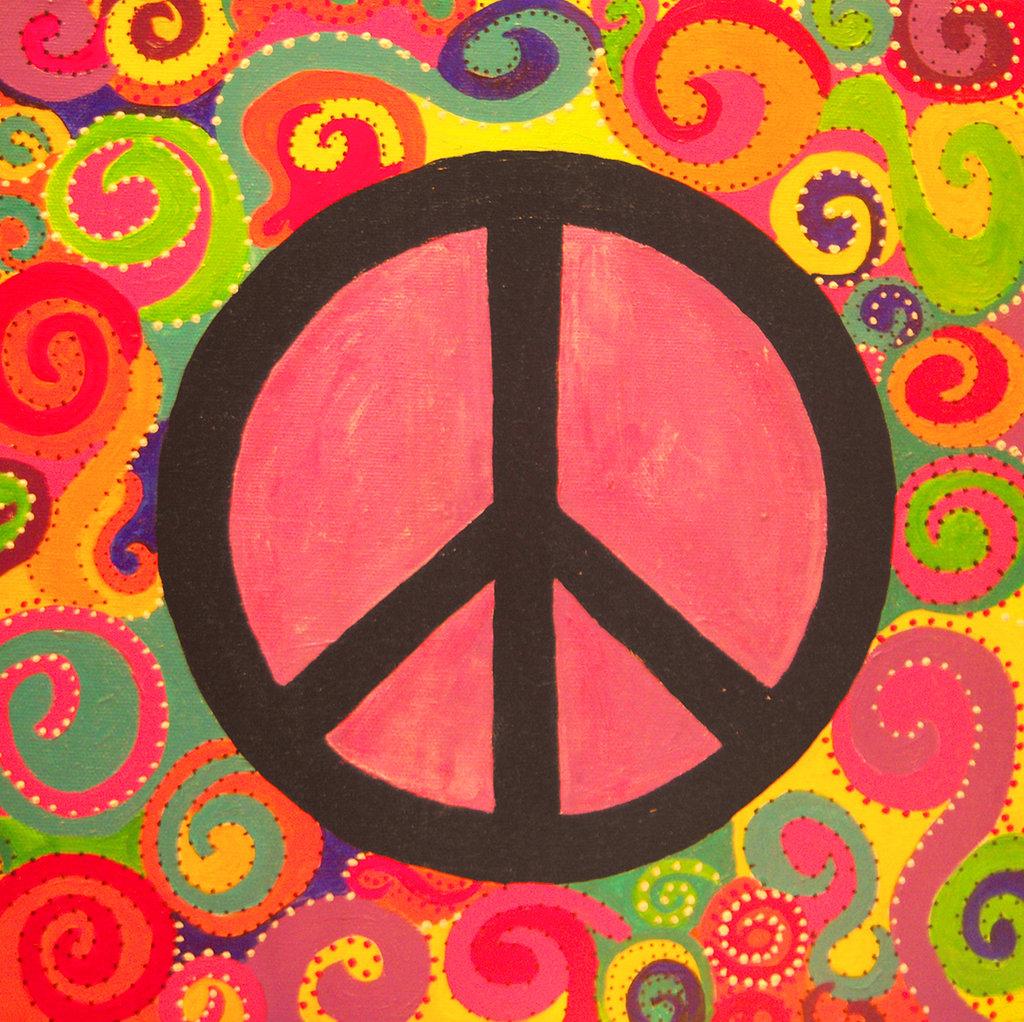 Peace Sign Background Wallpapersafari