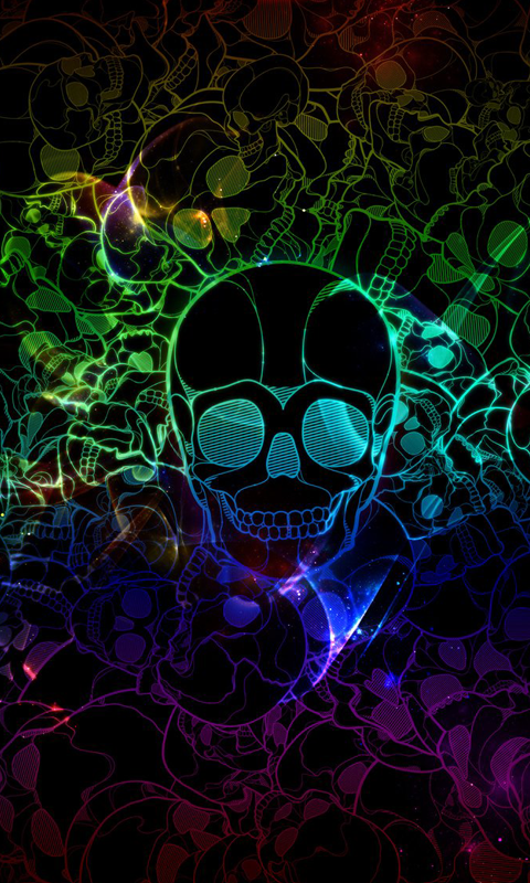 Skull HD Live Wallpapers For Android 480x800