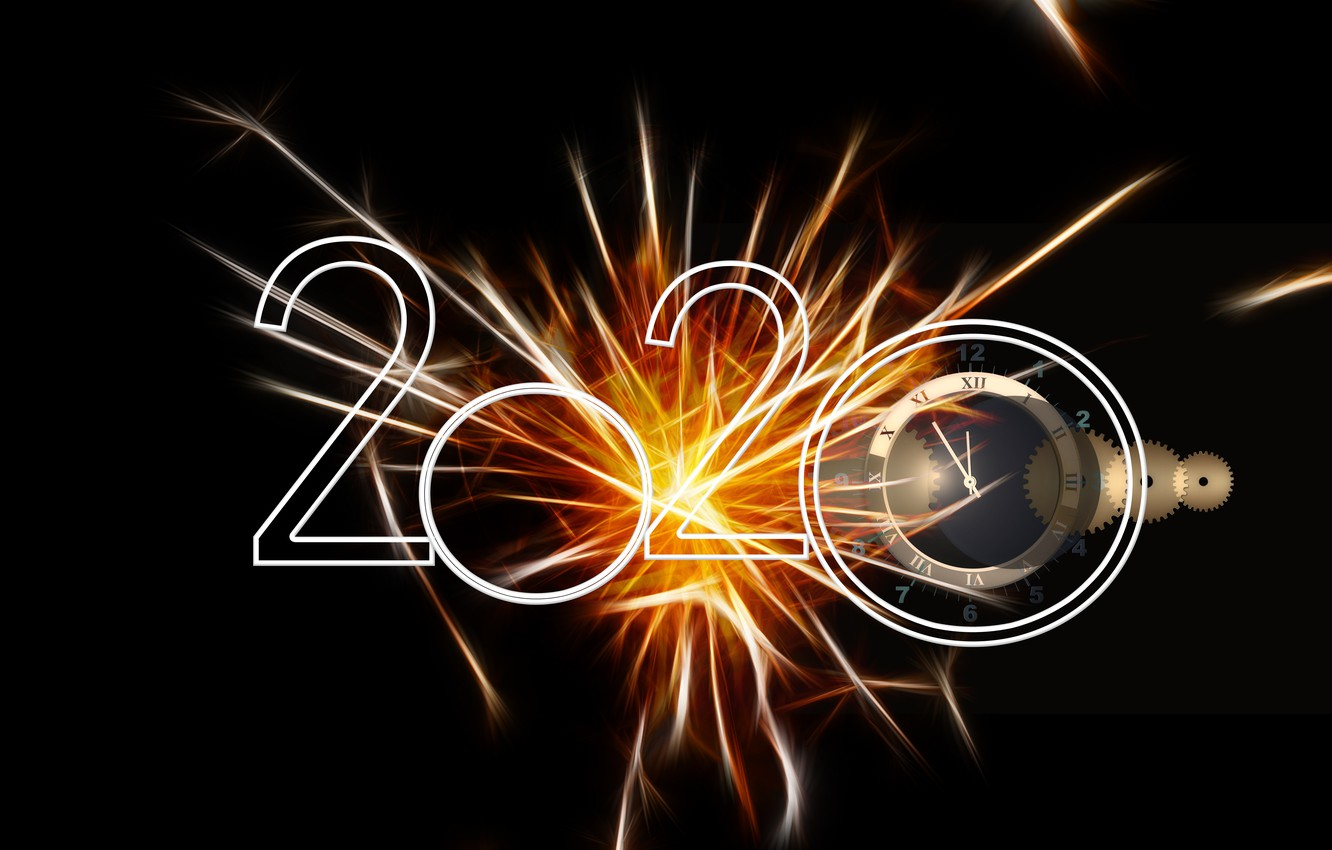 Wallpaper fireworks dial the dark background 2020 images for 1332x850