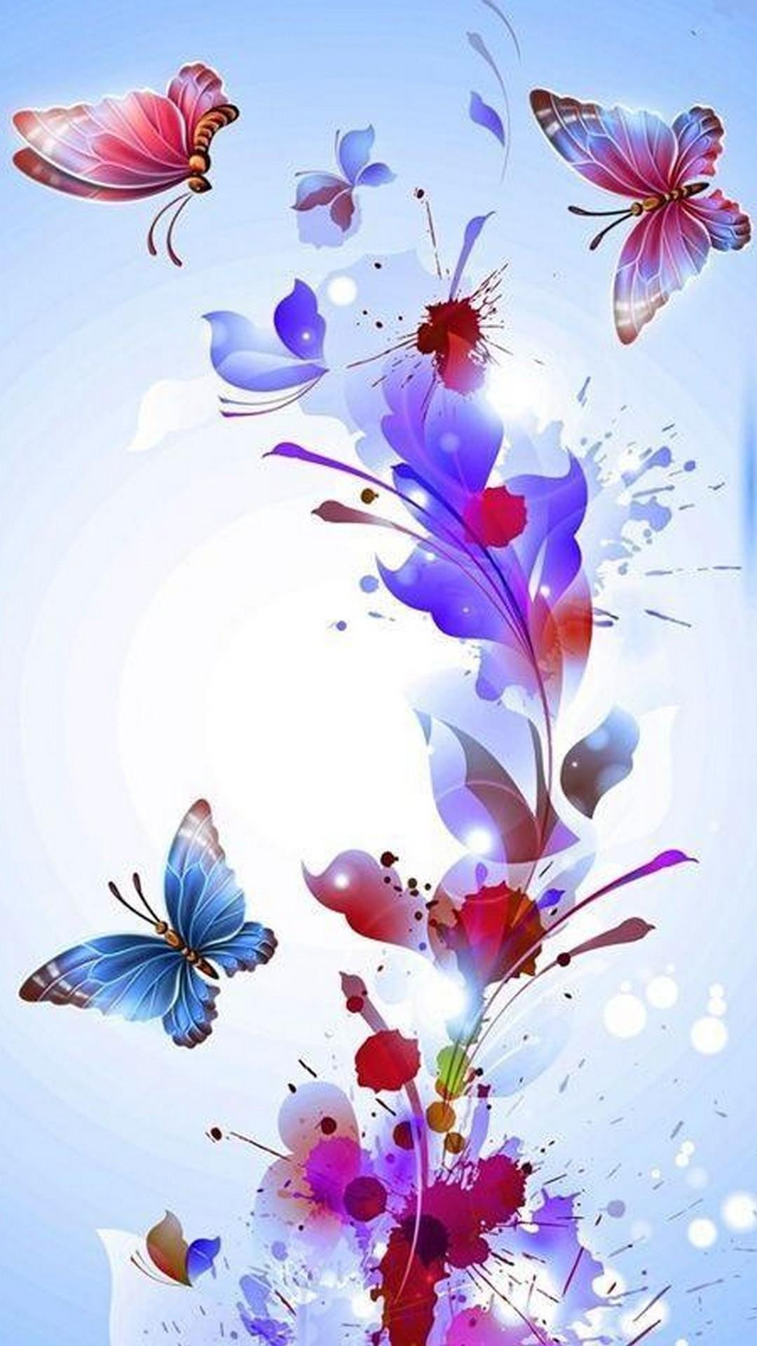 Pink Butterfly Wallpaper iPhone 2019 3D iPhone Wallpaper 1080x1920