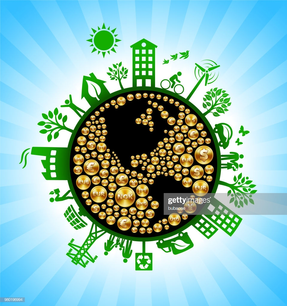 Planet Earth Money Green Environmental Conservation Background 959x1024