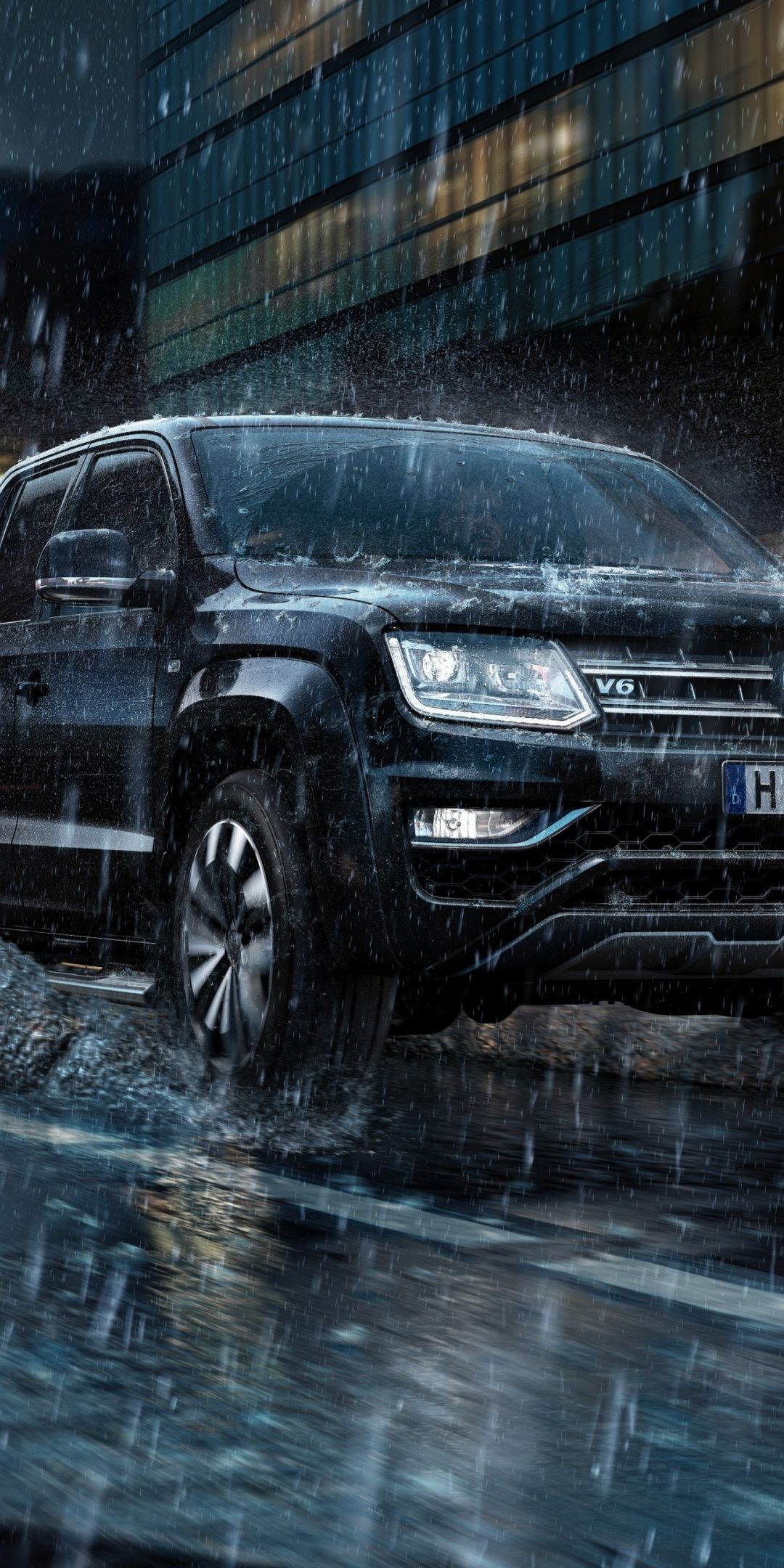 1080x2160 Rain on road Volkswagen Amarok wallpaper 1440x2560 1080x2160