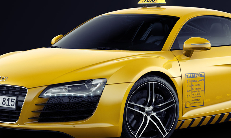 Wallpaper audi gelb Taxi Audi R8 Autos groe 800x480 auf dem 800x480