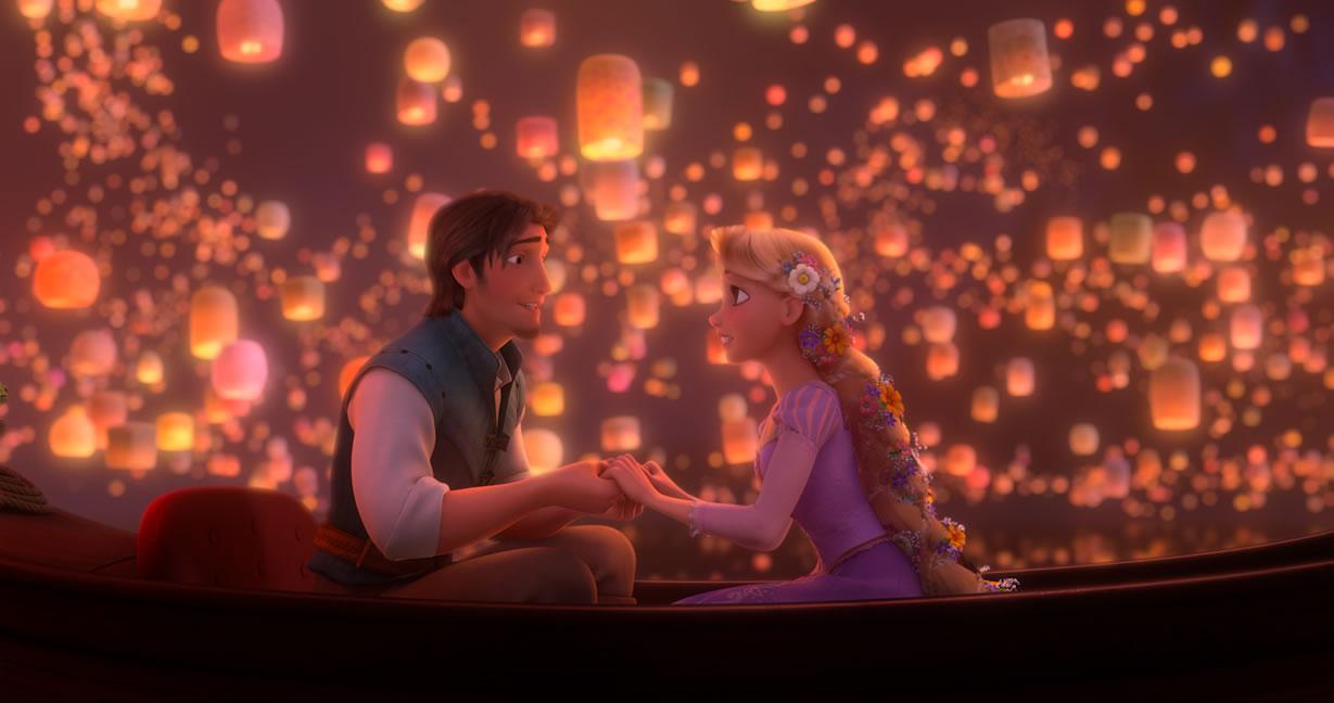 Rapunzel and Flynn from Disneys Tangled Movie Desktop Wallpaper 1229x648