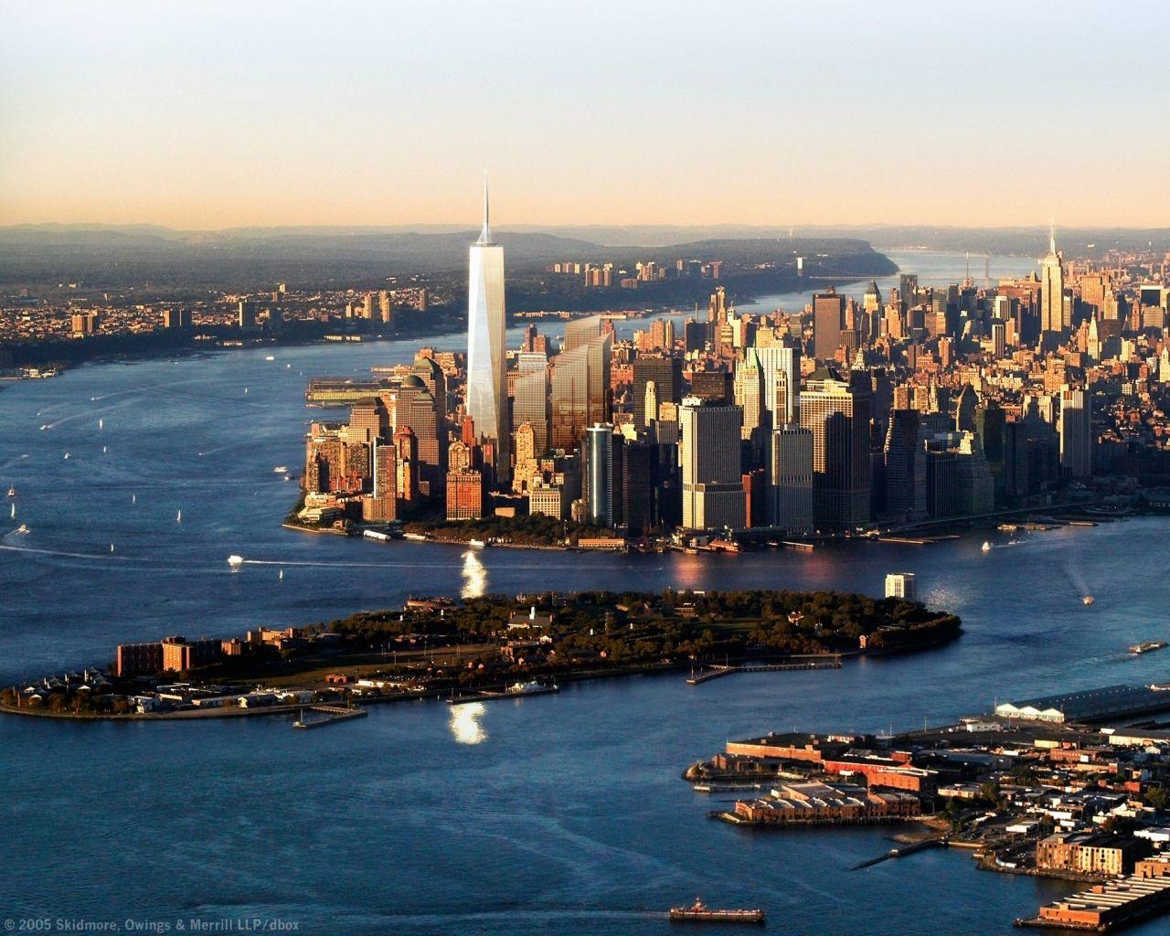 Buildings City Freedom Tower desktop wallpaper nr 38543 1280x1024