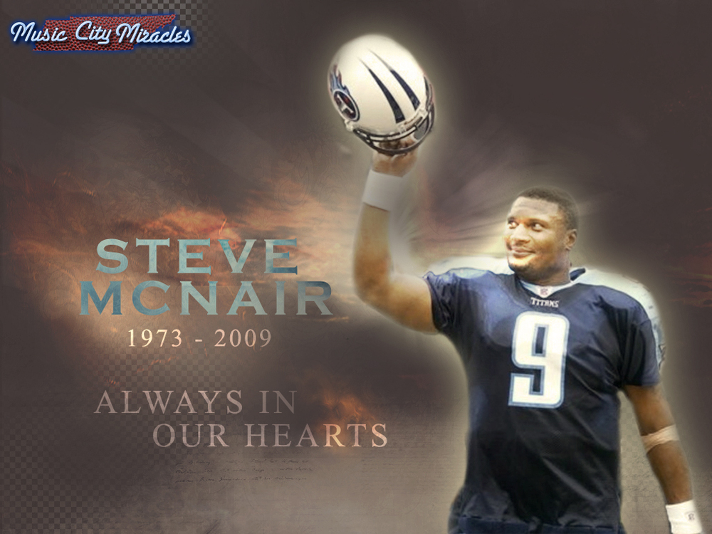 Wednesday Wallpaper   Steve McNair   Music City Miracles 1000x750
