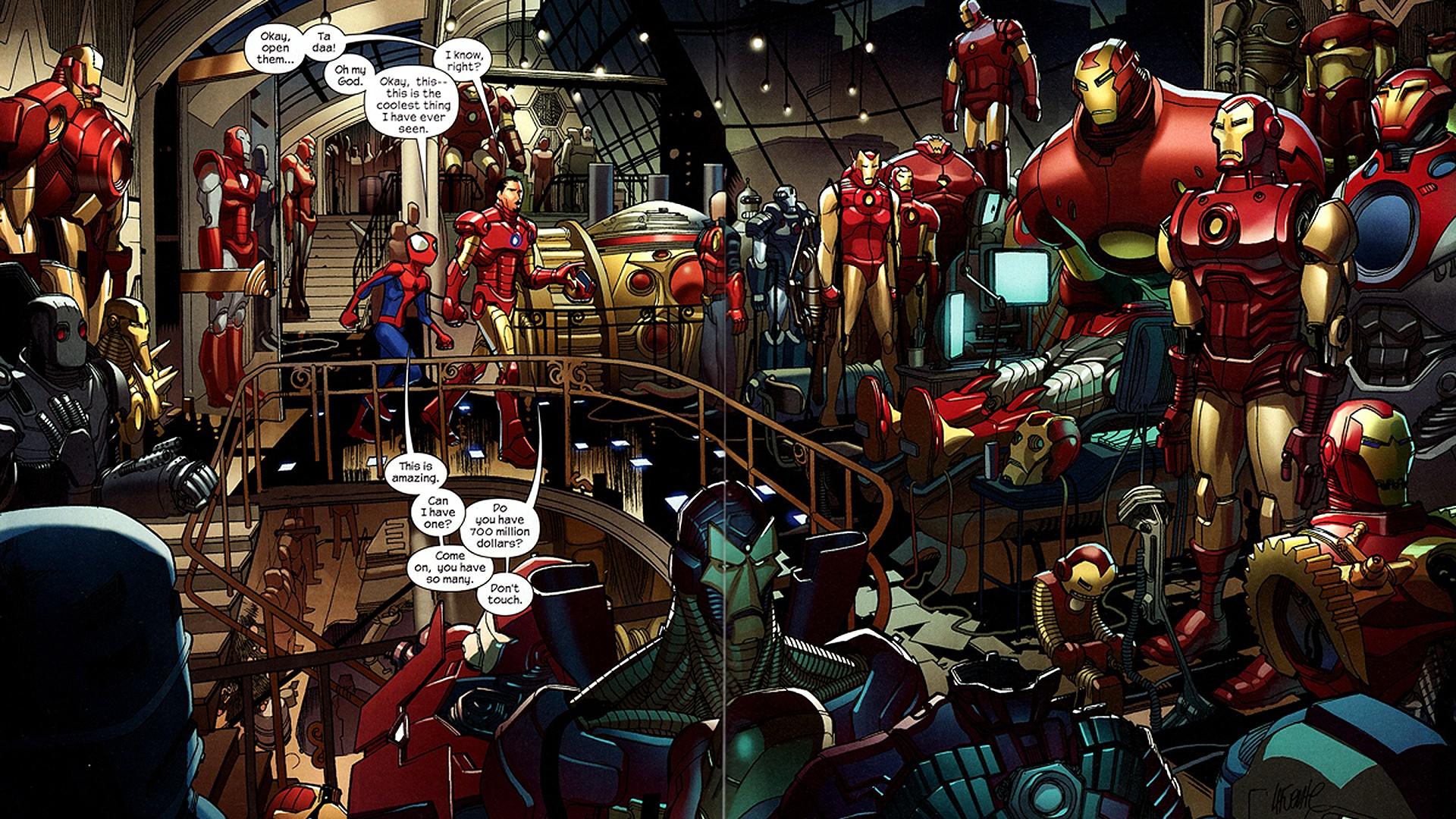 Free Download Wallpaper Iron Man Comics Tony Stark Marvel Comics