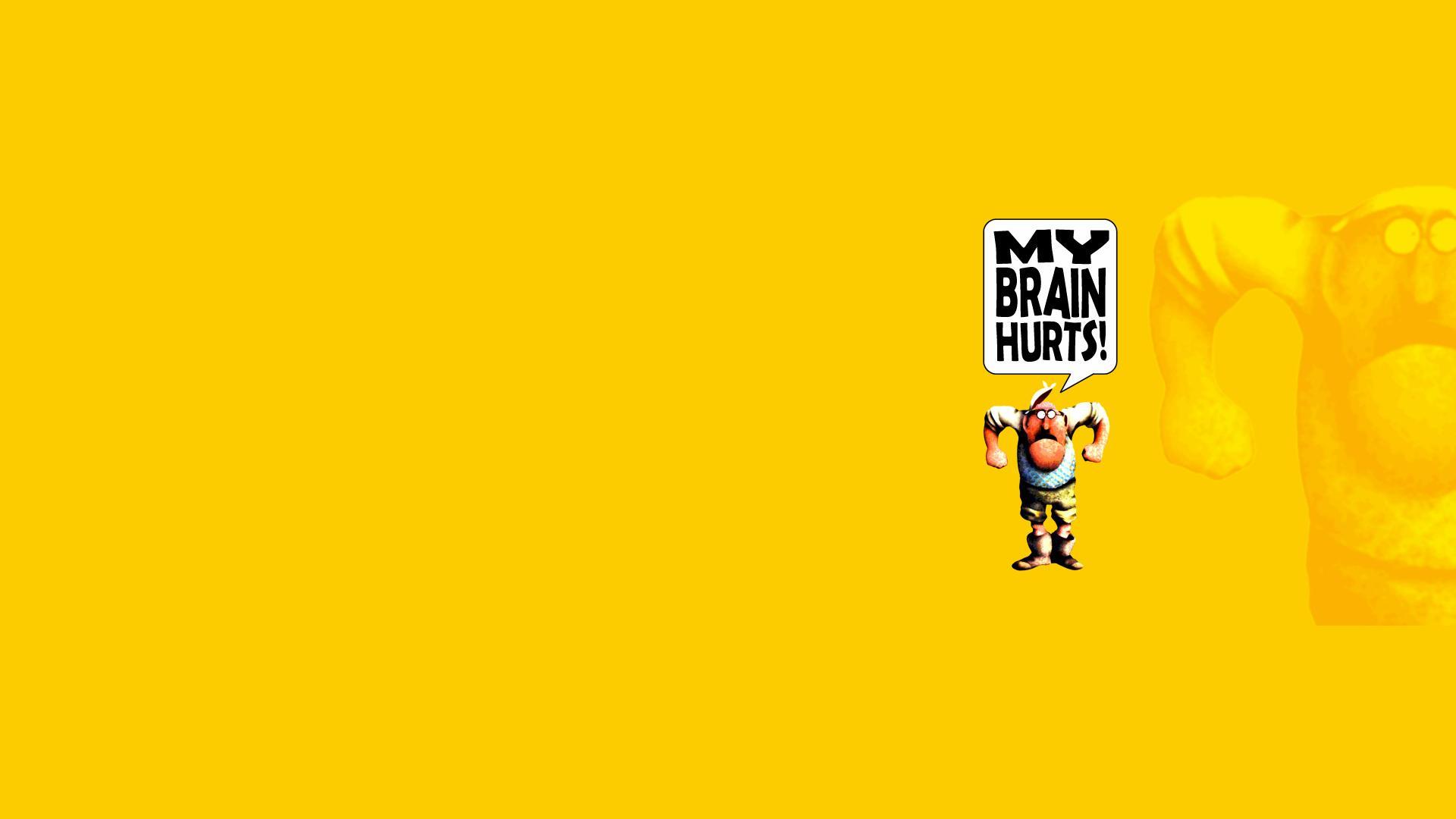 Monty Python Yellow cartoon humor movies text wallpaper 1920x1080 1920x1080