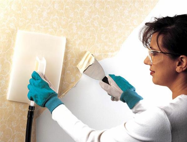 Tapeten entfernen Wie kann man die Tapeten richtig ablsen 600x457