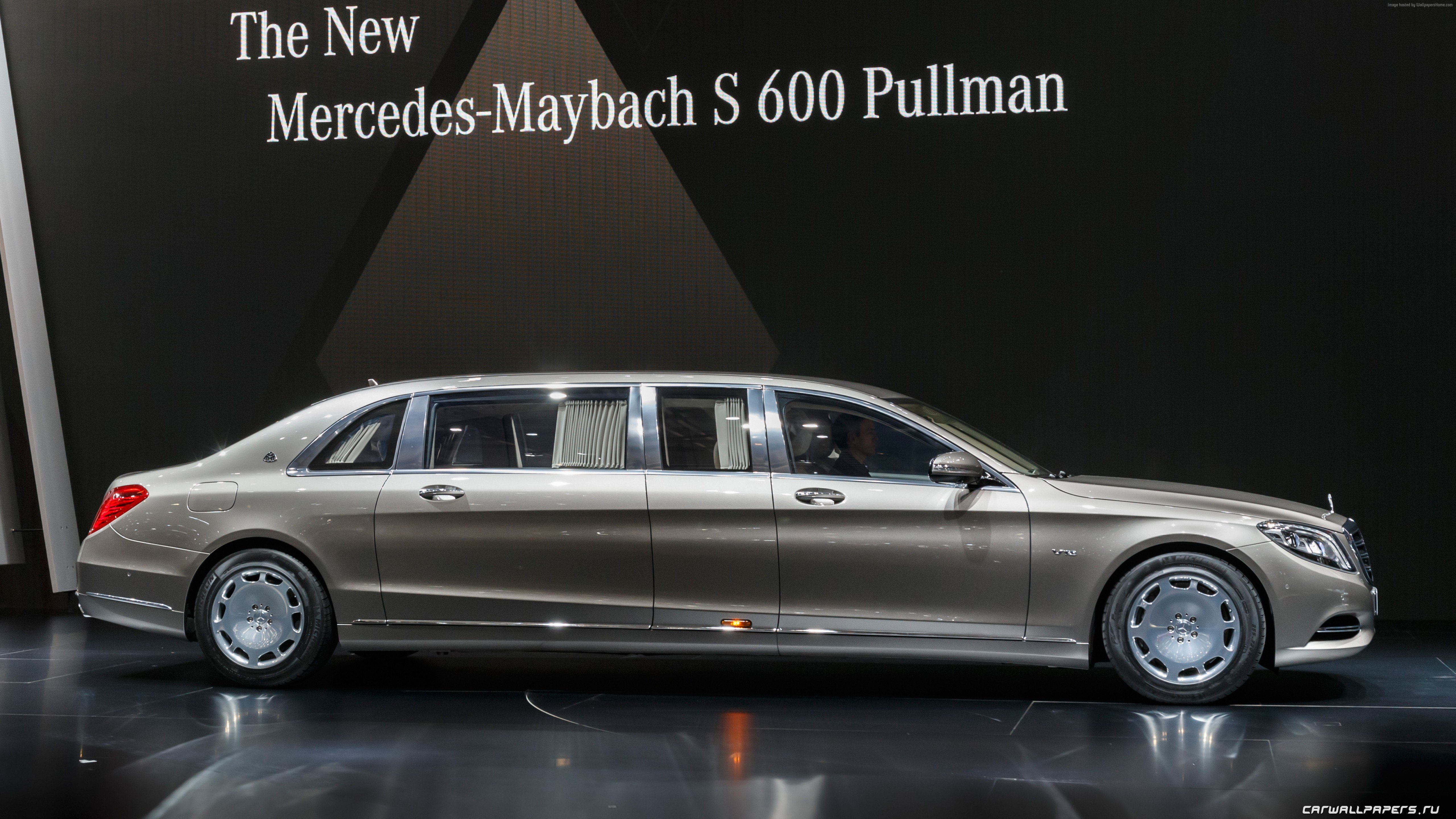 Wallpaper Mercedes Maybach S600 Pullman sedan grey 5120x2880