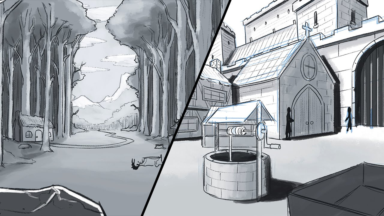 How to Draw a Background Environments and Landscapes 1280x720