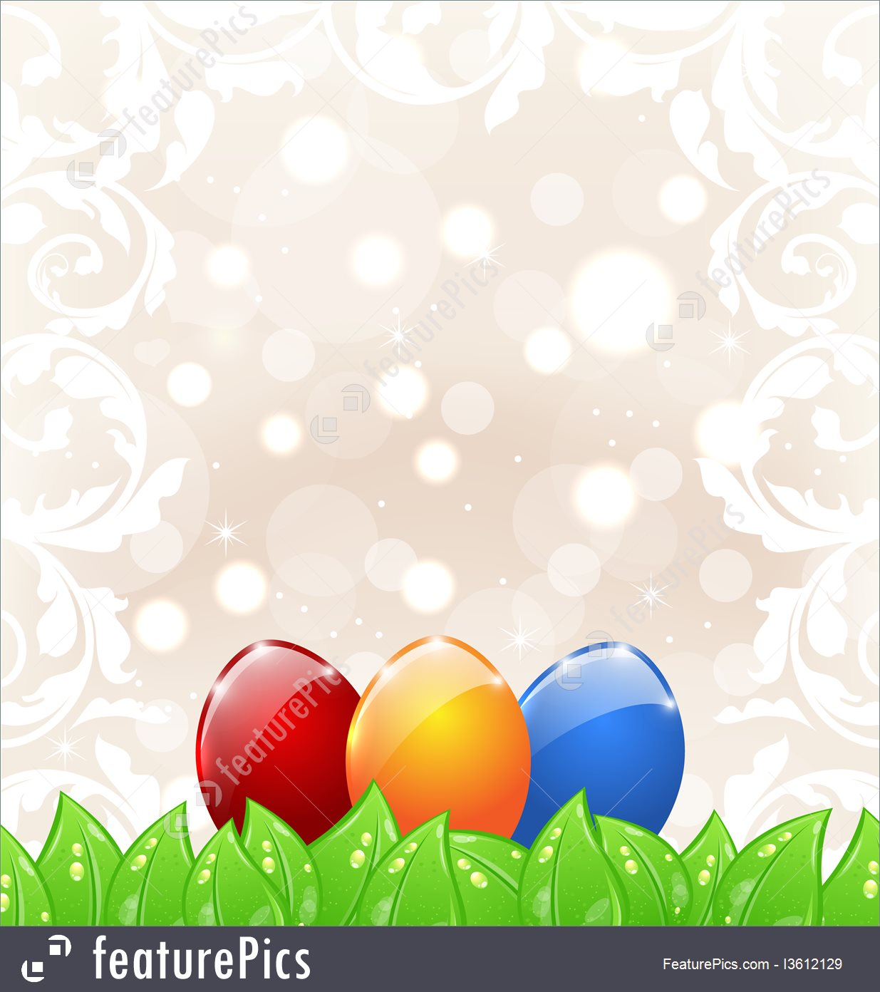 Easter Background With Eggs 1235x1392