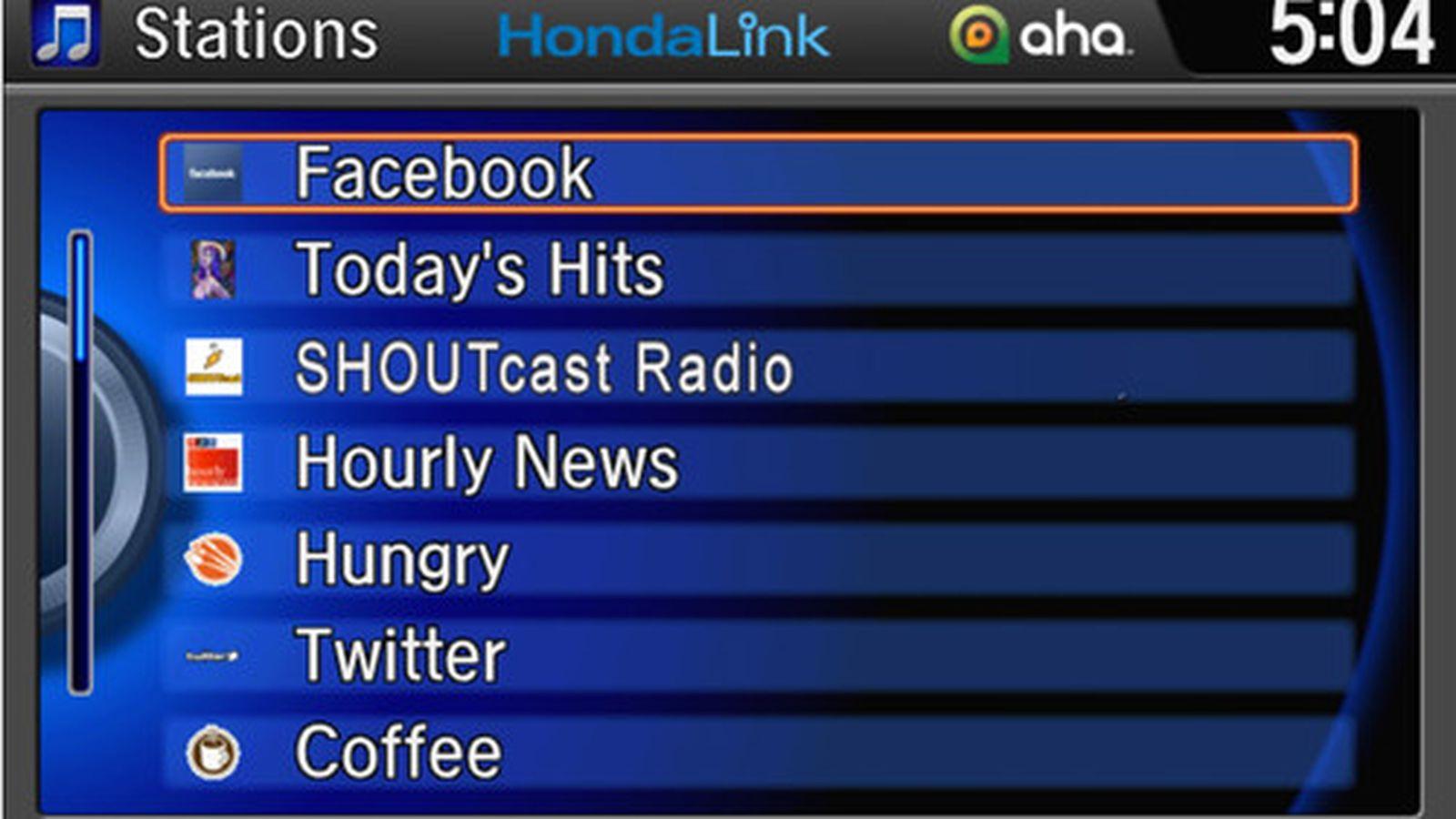 HondaLink brings Aha Radio powered audio content to Honda vehicles 1600x900