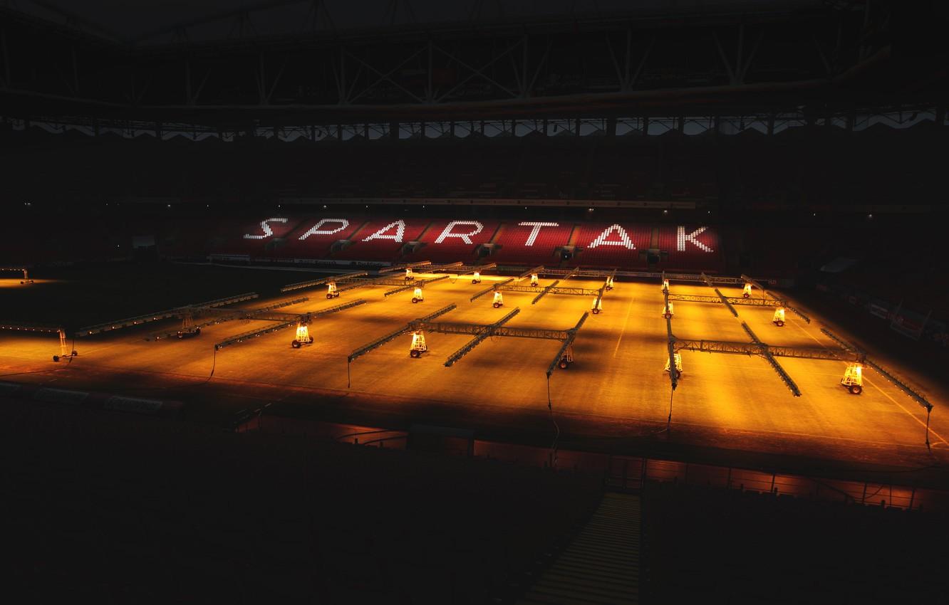 Wallpaper Field Light Football Stadium Spartacus Spartak 1332x850