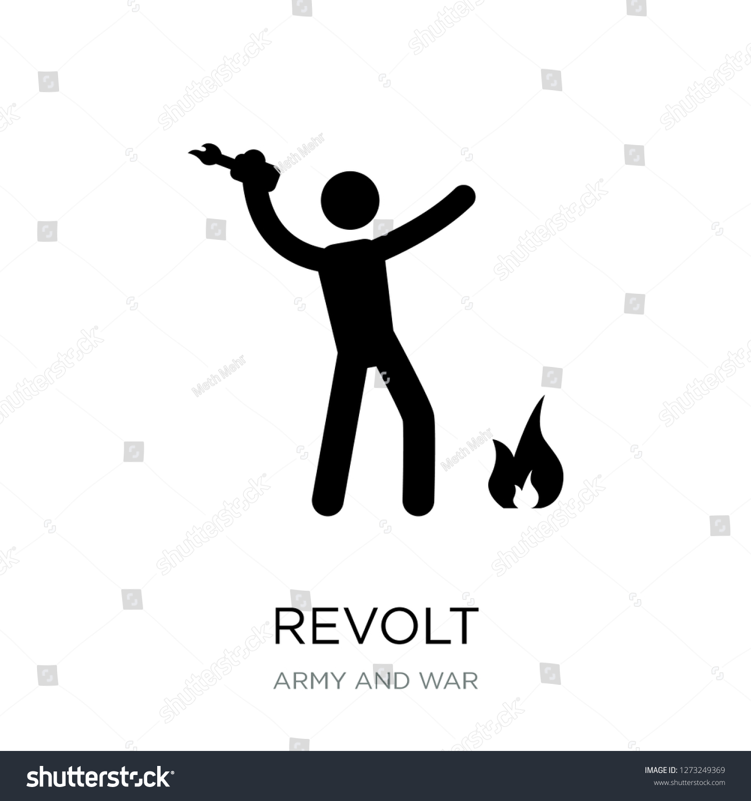 Revolt Icon Vector On White Background Stock Vector Royalty 1500x1600